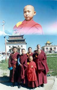 Улан-Батор, главный дацан Монголии «Гандан». Монламу шесть лет и семь месяцев.