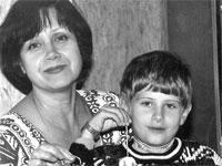 Лариса Александрова Кром с Яковом Кромом-младшим. Иркутск.2001
