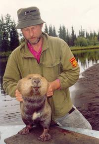 Александр Савельев с героем своей докторской диссертации –  тувинским бобром.