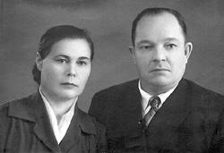 Супруги Зайцевы прожили вместе 56 лет. 1958 год.