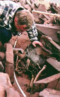 Константин Чугунов на раскопках кургана Аржаан-2