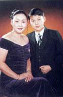 Онорчимег с сыном Ганзоригом. Улан-Батор, 2002 год.