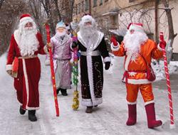 Кыщыльские Деды Морозы начали обход своих владений.