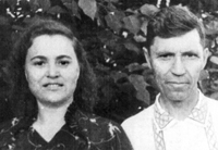 Родители Анатолия Наглера – отец Оскар Андреевич Наглер и мама Тереза Гавриловна Семке. Конец 50-х годов XX века. Юрга.