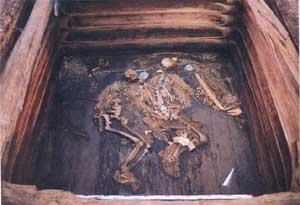 Общий вид царской могилы. Фотография 2001 года.