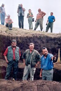 Президент Германского археологического Института профессор Парционгер, доктор Наглер (в центре) кандидат наук Готлиб.