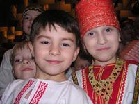Участники юбилейного концерта «Октая» – маленькие артисты ансамбля «Камелёк» (Кызыл).