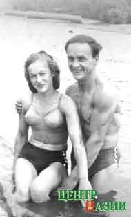 Лада и Георгий в ссылке на Ангаре (1954 год)