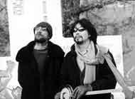 Патриарх тувинской рок-музыки старейший музыкант Ят-Ха Евгений Ткачев с Альбертом Кувезиным