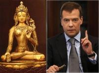 Стал ли Дмитрий Медведев буддийским божеством?