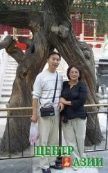 Как эти два дерева. Вячеслав и Кима в городе Лхаса, Тибет, Китай. 2005 год.