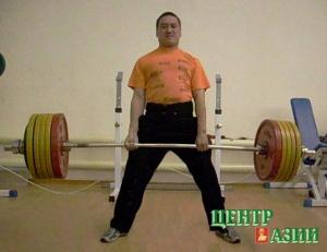 Альберт Тюлюш – очередная тренировка.