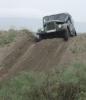 Мокрый песок горячего джип-спринта