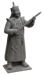 Памятник Конгар-оолу Ондару рождается из хоомея и хуреша