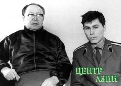Дед с внуком Алексеем (сыном Валентина). Последняя фотография С. Тока. Апрель 1973 года.