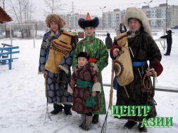 Семья Сандак: Володя, Владик, Наталья и Александр Казакович. Март, 2004 год